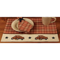 Primitive Thanksgiving Placemat Fall Truck Farmhouse Fall Decor - BJS Country Charm