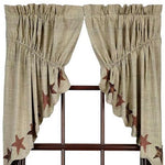 Primitive Abilene Star Prairie Swag Curtains
