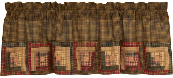 Tea Cabin Border Block Valance