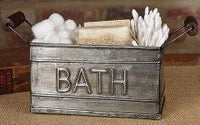 Primitive Farmhouse Bath Tin with Handles - BJS Country Charm