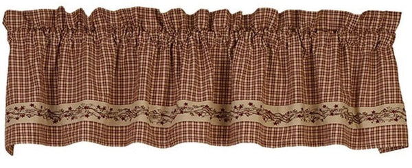 Country Primitive Farmhouse Berry Valance - BJS Country Charm