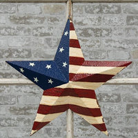 "Country Primitive 18"" Americana Star - BJS Country Charm"