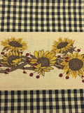 Primitive Sunflowers N Berries Valance