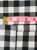 Handmade Primitive Farmhouse Black and White Check Valance - BJS Country Charm