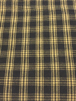 Black Plaid Homespun Fabric Napkin