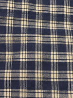 Country Primitive Navy Blue Plaid Homespun Swags Handmade - BJS Country Charm