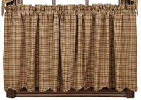 Primitive Millsboro Tier Country Curtains - BJS Country Charm