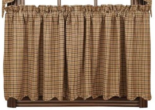 Primitive Millsboro Tier Country Curtains