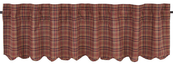 Country Primitive Parker Scalloped Valance - BJS Country Charm