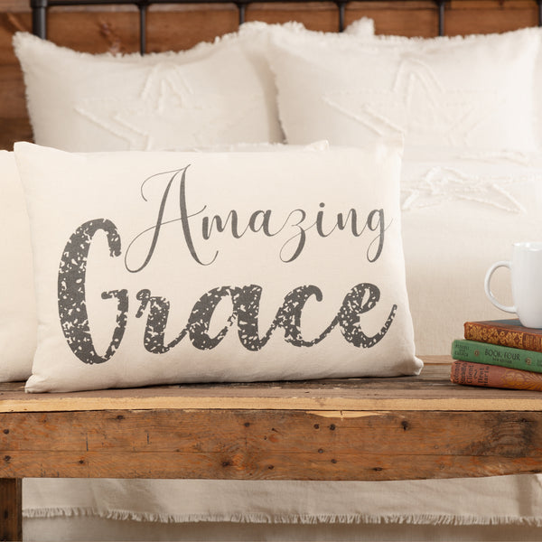 Casement Natural Amazing Grace Pillow 14x22