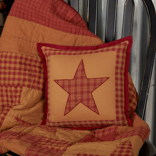 Ninepatch Star Quilted Pillow 12x12