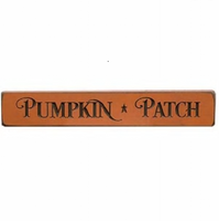 "Primitive Pumpkin Patch Engraved Sign 12"" Orange - BJS Country Charm"