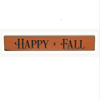 Primitive Happy Fall Sign