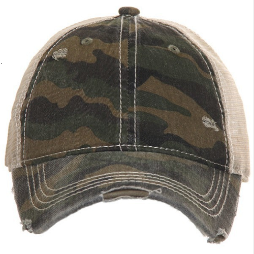 Camo Ponytail Hat