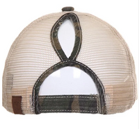 CC Camo Ponytail Truckers Hat