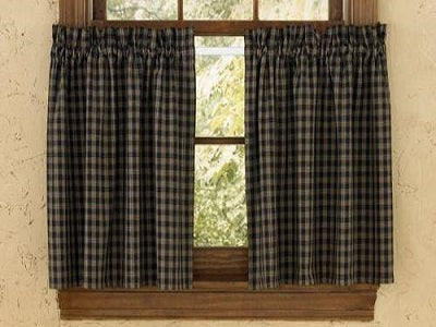 Sturbridge Black Plaid Homespun Tiers