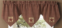 Sturbridge Patch Valance Burgundy Plaid