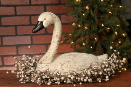 Country Primitive Swan Primitive Home Decor