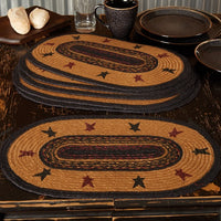 Heritage Farms Star Braided Jute Placemat