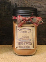 Cinnamon Bun Jar Candle 12 oz - BJS Country Charm