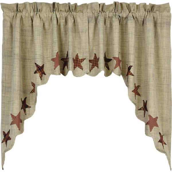 Rustic Primitive Abilene Star Scalloped Swags - BJS Country Charm