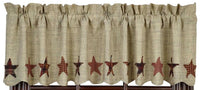 Country Primitive Abilene Star Valance - BJS Country Charm