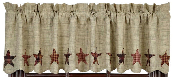 Abilene Star Scalloped Valance