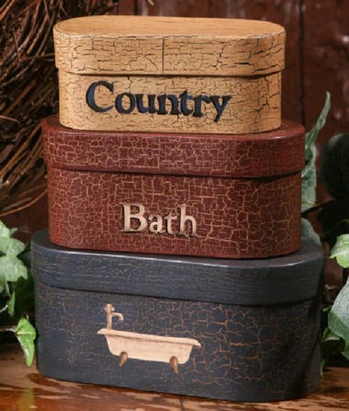 Country Bath Primitive Nesting Boxes