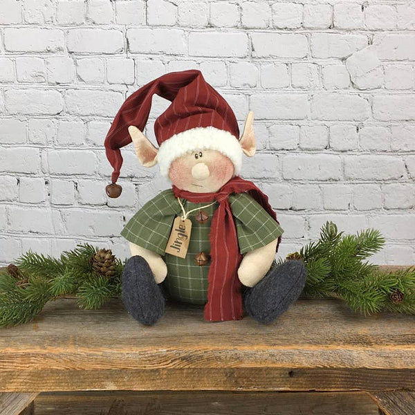 Country Primitive Jingle the sitting Elf