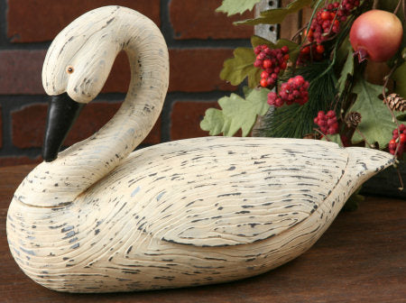 Country Primitive Swan with Bent Neck