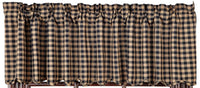 Country Primitive Black Check Scalloped Valance - BJS Country Charm