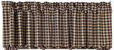 Primitive Black Check Scalloped Homespun Valance