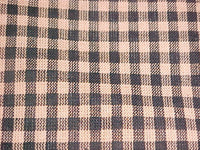 Country Primitive Black & Tan Gingham Homespun Valance Handmade