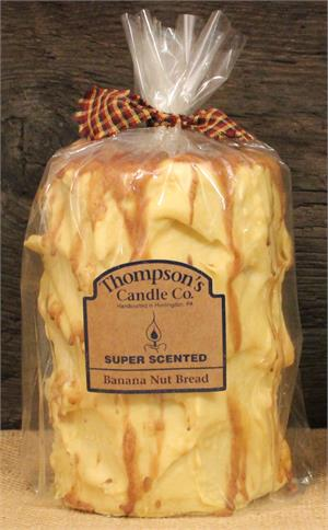 Banana Nut Bread Large Pillar Candle - BJS Country Charm