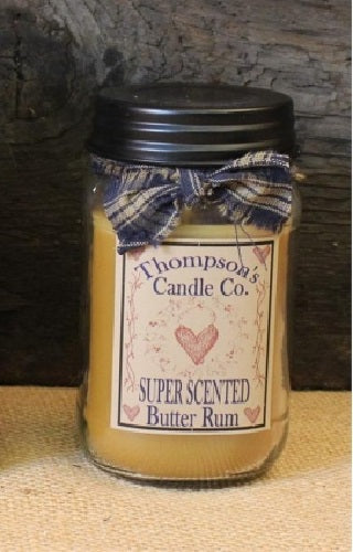 Butter Rum Jar Candle 12 oz - BJS Country Charm