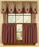 Country Primitive Burgundy Plaid Tiers - BJS Country Charm