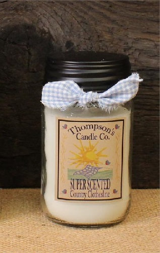 Country Clothesline Jar Candle 12 oz - BJS Country Charm