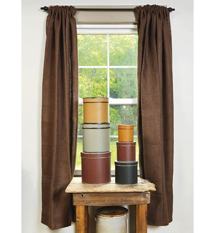 Handmade Country Primitive Burlap Curtains