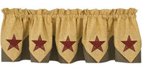 Country Star Pointed Valance - BJS Country Charm