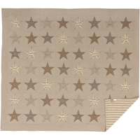 Farmhouse Sawyer Mill Star Charcoal Quilt - BJS Country Charm