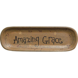 Country Primitive Amazing Grace Decorative Oval Tray - BJS Country Charm