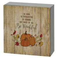 Country Primitive Be Kind Box Sign Fall Decor - BJS Country Charm