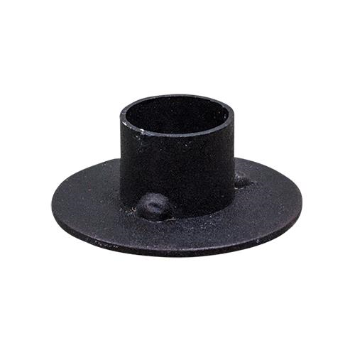 Primitive Circle Taper Candle Holder - Black