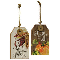 Be Grateful Wood Tag