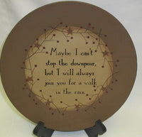 Primitive Can't Stop The Downpour Plate - BJS Country Charm