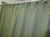 Country Primitive Green Plaid Homespun Shower Curtain