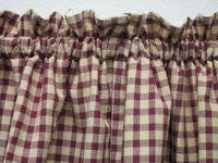 Burgundy Check homespun Swags
