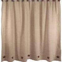 Heritage Star Shower Curtain - BJS Country Charm