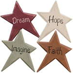 Country Primitive Star Word Magnets Dream Hope Imagine Faith - BJS Country Charm