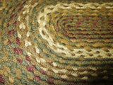 Country Primitive Tea Cabin Braided Placemat 12 x 18